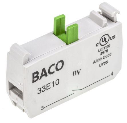 Baco NO Screw Terminal Contact Block w/single position clip p/n# 331E10