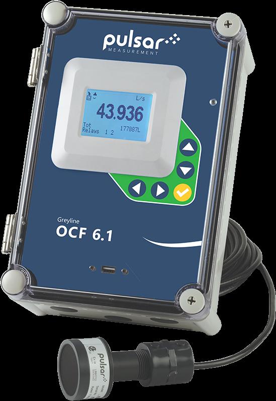 Greyline OCF 6.1 Open Channel Flow & Tank Level Meter, p/n# OCF 6.1