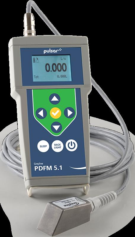 Greyline PDFM 5.1 Portable Doppler Flow Meter p/n# PDFM 5.1
