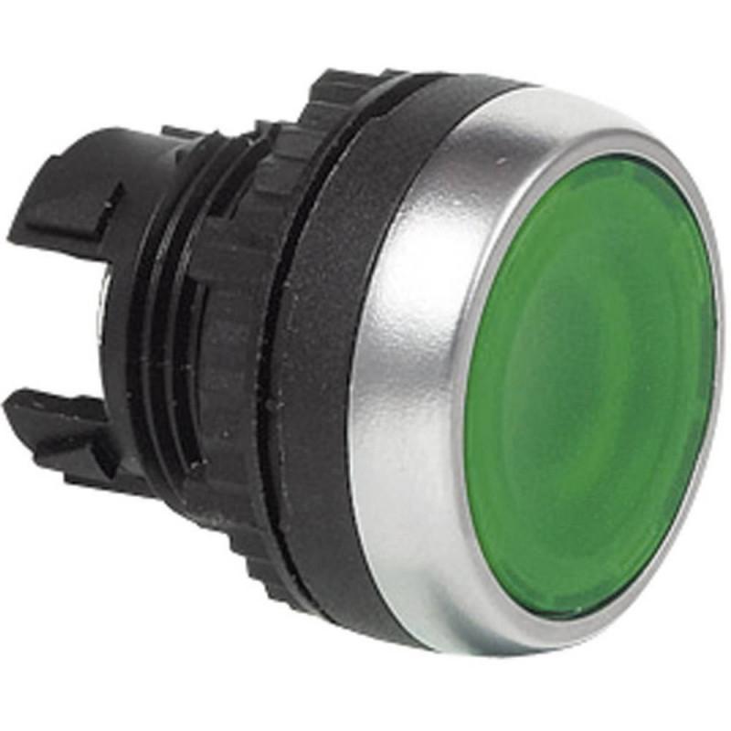 Baco Flat Illuminated Pushbutton Green  p/n# L21AH20