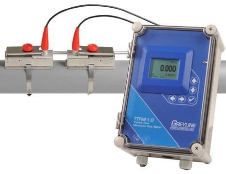 Greyline Instruments TTFM 1.0 Ultrasonic Flow Meter p/n# TTFM 1.0A-1-A-1-B-1-A-1-A